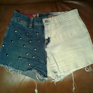 Guess Denim shorts embellished with metal studs